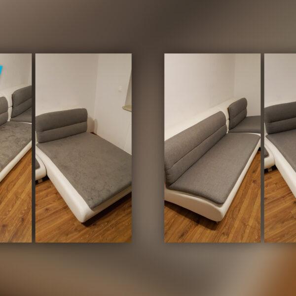 Pranie tapicerki - przed i po