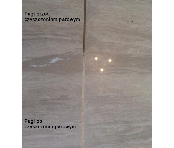 Mycie fug - zdjęcie przed i po