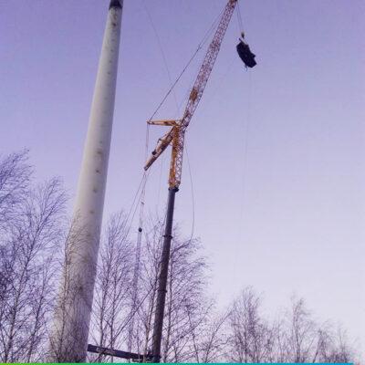 Rozbiórka elektrowni wiatrowej